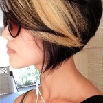 Black-Blonde-Ombre-Bob-Hairstyle-for-Short-Hair