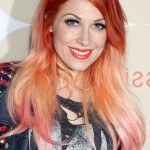 Bonnie-McKee-Red-to-Pink-Ombre-Hair