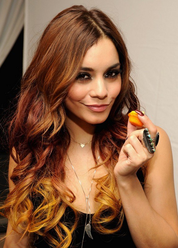 Vanessa Hudgens Latest Ombre Hair With Curls Capellistyle
