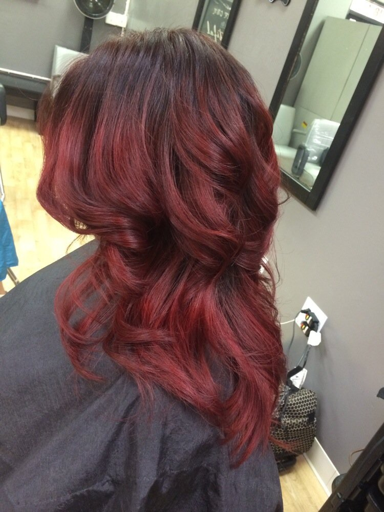 Balayage capelli corti rossi