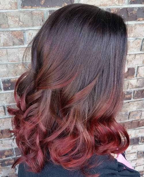 2-burgundy-ombre-for-medium-length-black-hair 2-burgundy-ombre-for-medium-length-black-hair