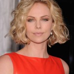 Charlize-Theron-Jaw-Length-Bob-Hairstyle-with-Waves