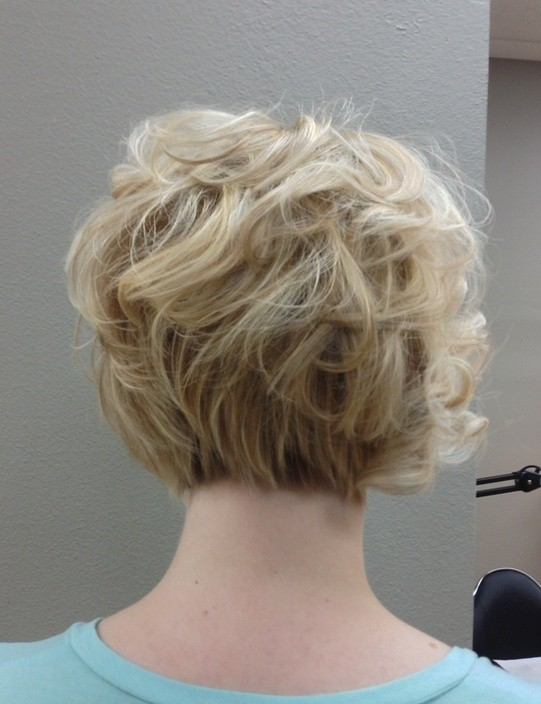 Hairstyles For Short Hair For Work : Haircuts-Back-View-Women-Short-Hairstyles-for-Work Curly-Bob-Haircuts ...