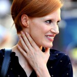 Jessica-Chastain-Short-Bob-Hairstyle-with-Bright-Color