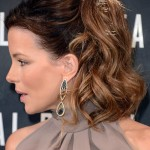Kate-Beckinsale-1960s-Insprired-Ponytail-Hairstyle-for-Women
