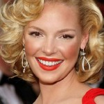 Katherine-Heigl-Short-Blonde-Curly-Hairstyles-for-Wedding-Homecoming
