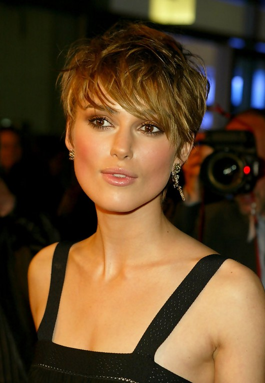 in style haircuts 2015 keira knightley haircut with 1983 | Keira Knightley Sexy Messy Short Straight Haircut with Bangs