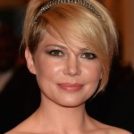 Michelle-Williams-Short-Hairstyle-with-Long-Bangs-for-Wedding