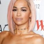 Rita-Ora-Short-Pink-Asymmetrical-Bob-Cut