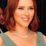 Scarlett-Johansson-Short-Red-Bob-Hairstyle-with-Waves