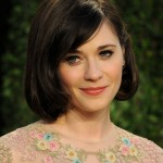 Zooey-Deschanel-Short-Layered-Bob-Hairstyle-with-Side-Bangs-for-Thick-Hair
