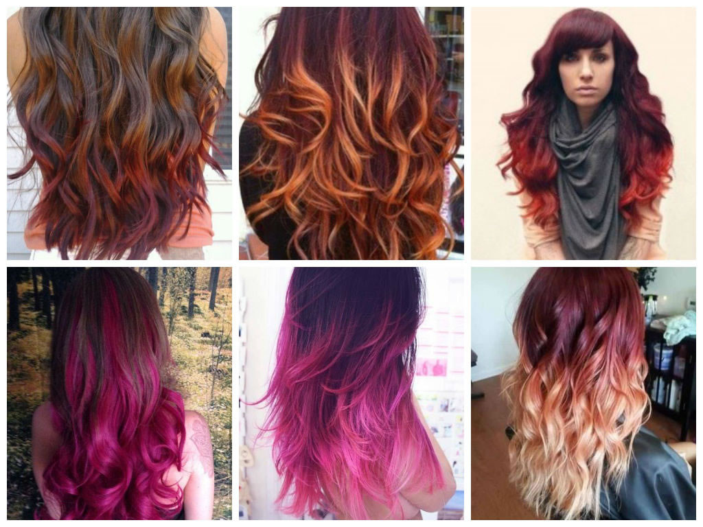 Colori sfumati di capelli