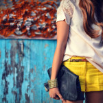 Some-yellow-linen-shorts
