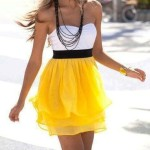 Yellow-and-white-dress-combo