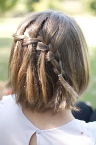 Treccia davanti capelli corti