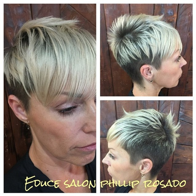 Cool-Two-Toned-Short-Haircut-with-Bangs