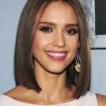 Jessica-Alba-medium-length-hairstyles