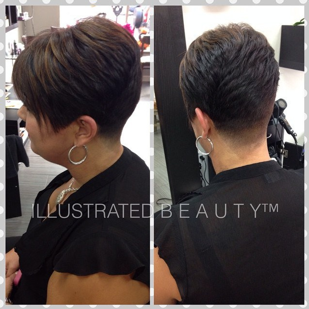 Layered-Short-Hairstyle-for-Thick-Hair