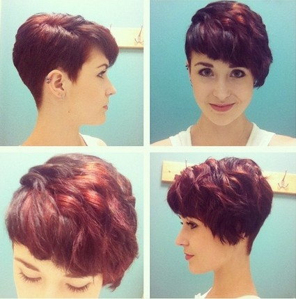 Trendy-Red-Wavy-Haircuts-for-Short-Hair-Women-Hairstyles-2015