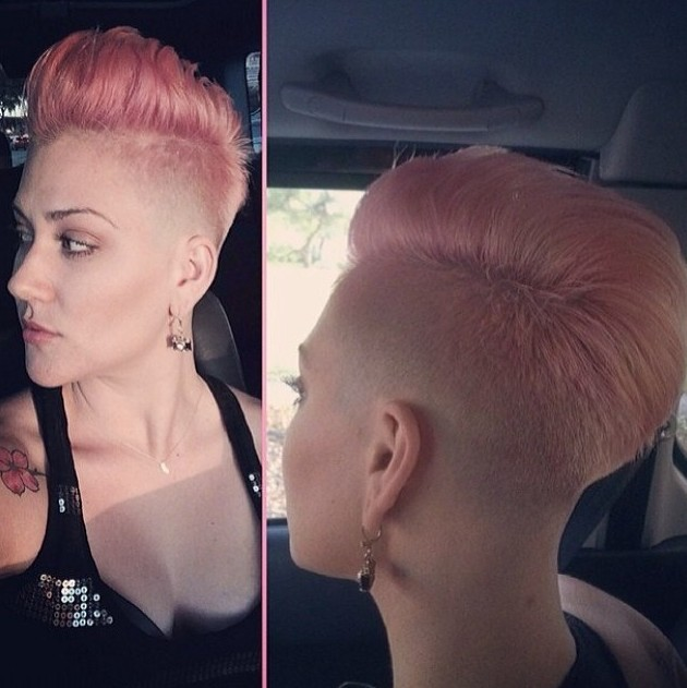 Trendy-Short-Pink-Haircut-for-Women