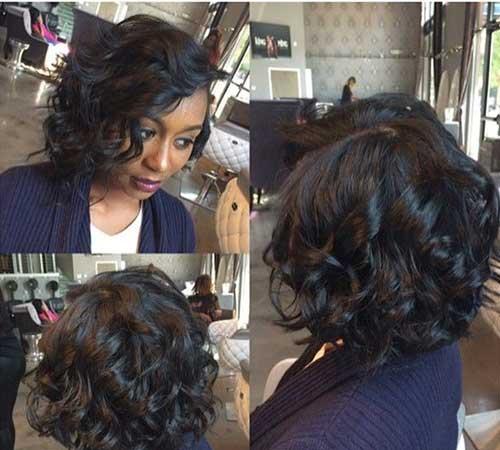Taglio bob per ragazze di colore Curly-Bob-Hair1