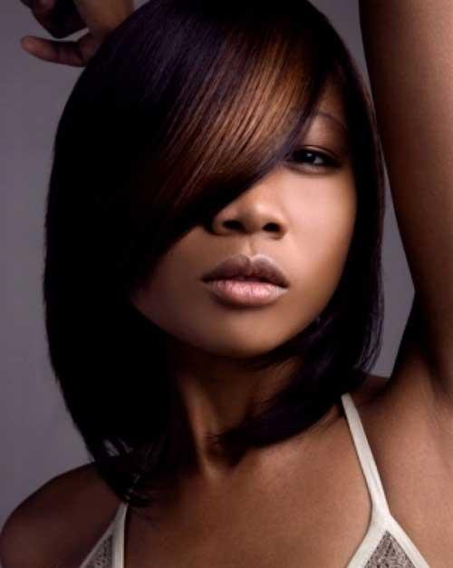 Taglio bob per ragazze di colore