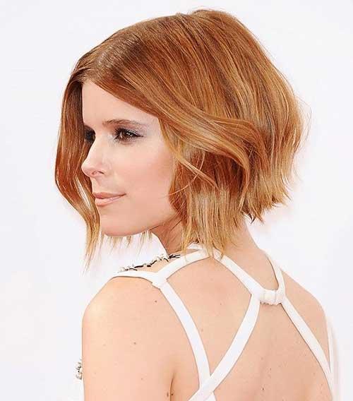 Taglio di capelli corti e colore Angled-Bob-Honey-Brown