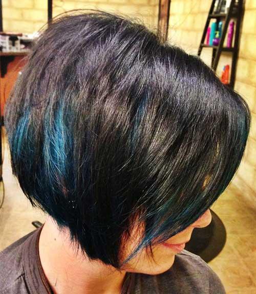 Taglio di capelli corti e colore Blue-Streaks-in-Hair
