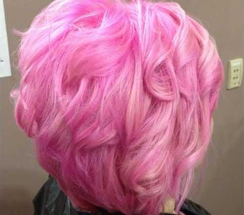 Taglio di capelli corti e colore Cotton-Candy-Hair
