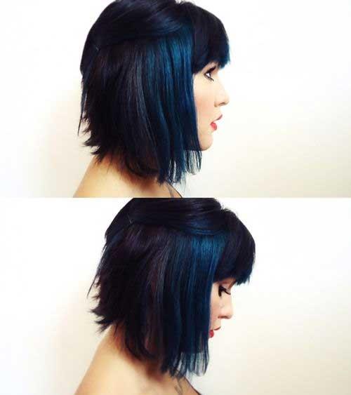 Taglio di capelli corti e colore Dark-Blue-Short-Hair