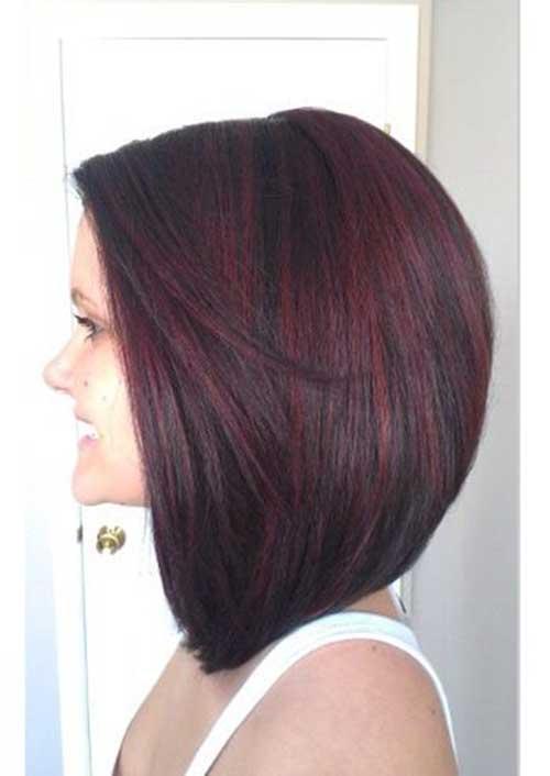 Taglio di capelli corti e colore Dark-Hair-Red-Lights