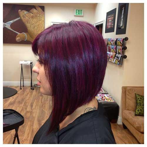 Taglio di capelli corti e colore Purple-Hair-Bob