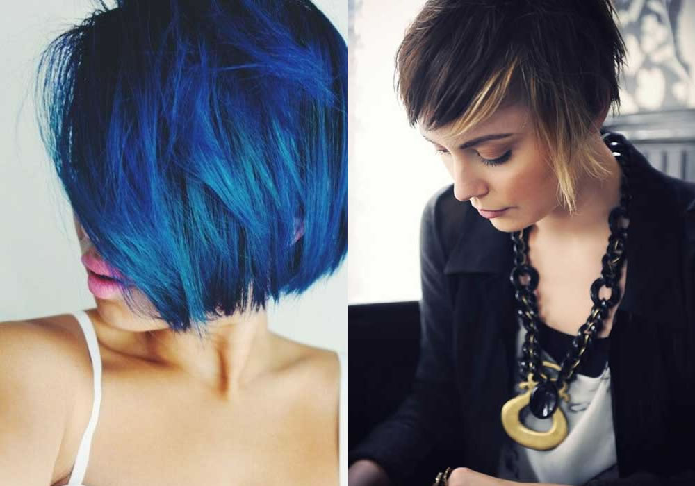 Tagli di capelli corti colorati – Acconciature alla moda della gioventù a92bbb77207e
