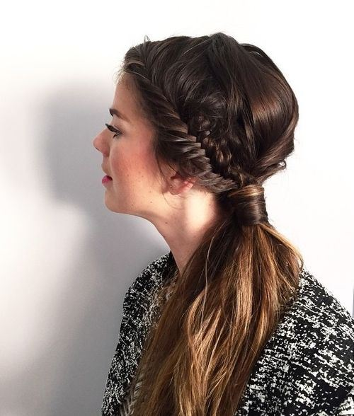 code di cavallo disordinate 14-side-ponytail-with-braid