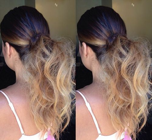 code di cavallo disordinate 17-cool-low-pony-for-ombre-hair