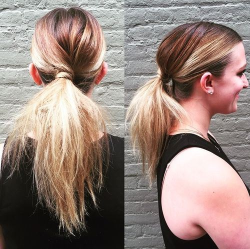 code di cavallo disordinate 7-low-twisted-pony-for-ombre-hair