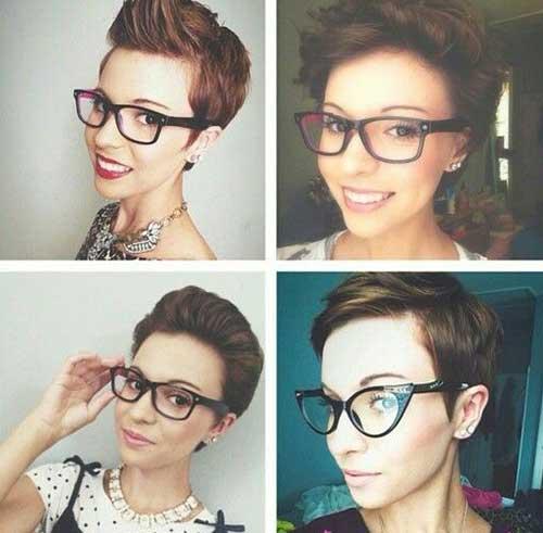 Taglio capelli viso con occhiali