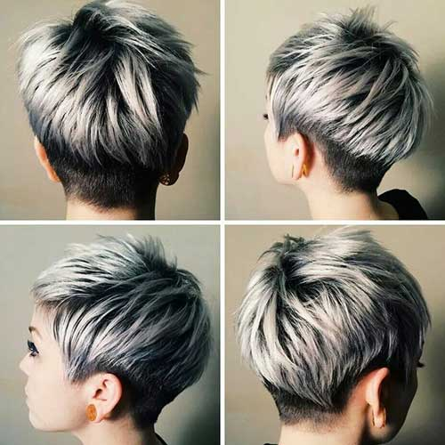 Pixie del momento Silver-Highlights-Short-Pixie