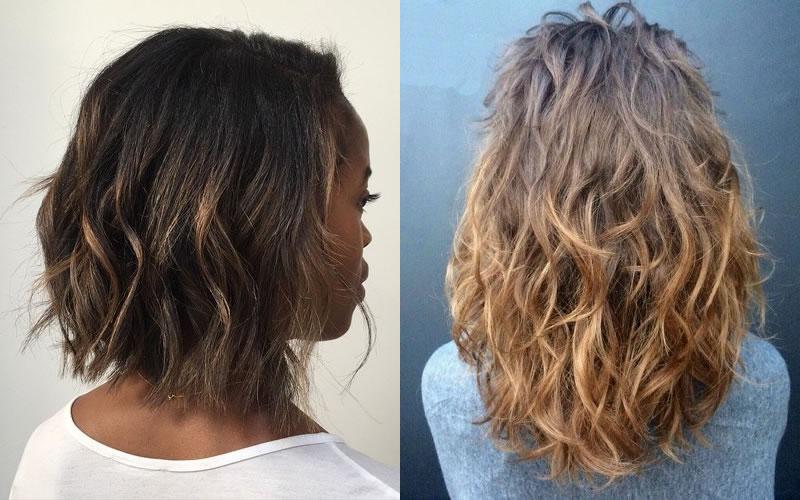 Effetto permanente su capelli lisci