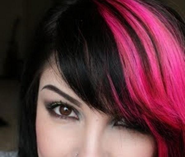 Idee brillanti di capelli con frange colorate