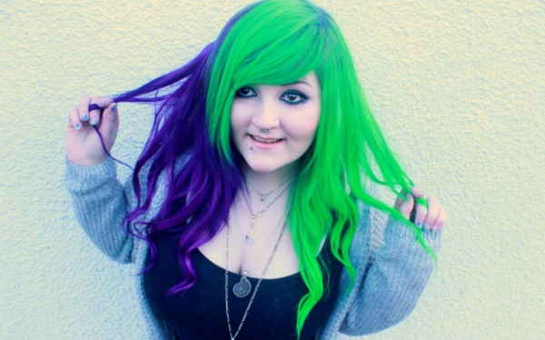 Verde nei capelli