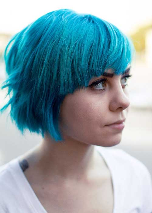 short hair dye styles 20 idee per capelli corti 2431 | Best Blue Colored Hair