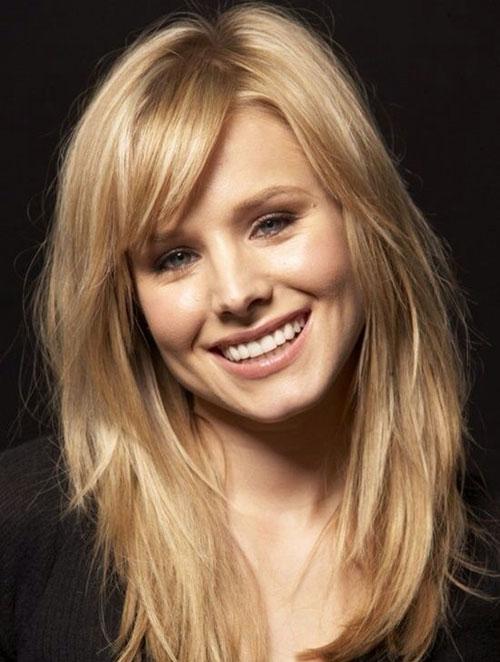 capelli lunghi con frangia laterale , Corta lunga dritta o laterale a ogni  viso la sua. Foto dei tagli