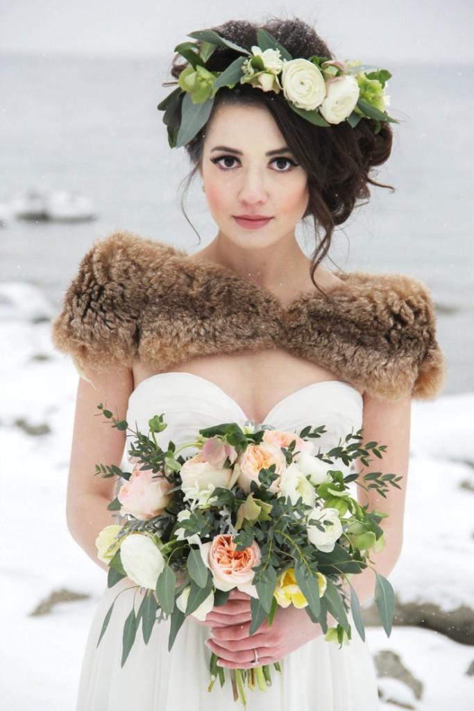 acconciature da sposa invernali