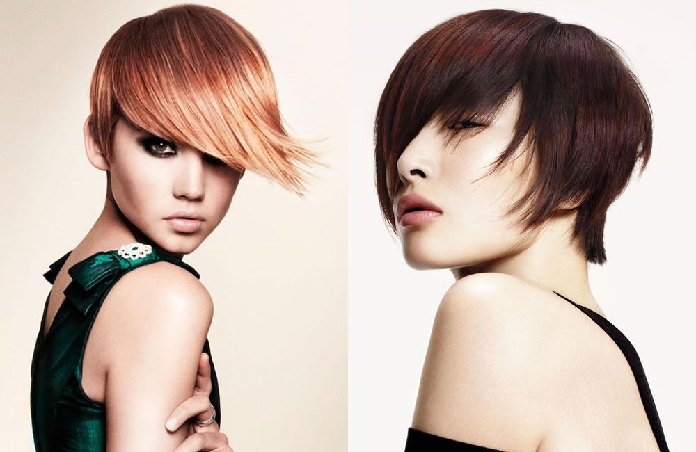 capelli con frangia colorata