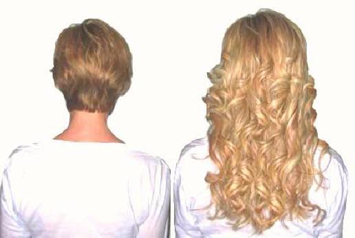 Extension su capelli cortissimi foto