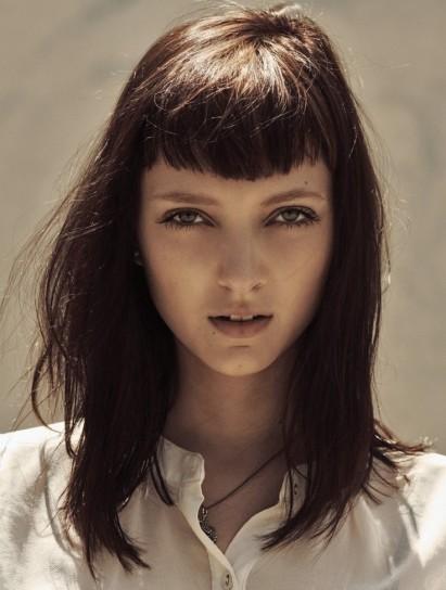 Immagini di tagli di capelli con frangia