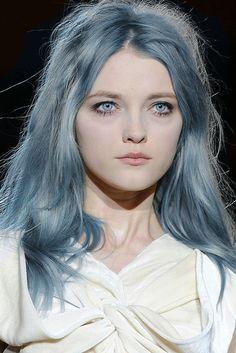 Capelli Grigio Blu Nuovo Trend Dell Inverno 2016