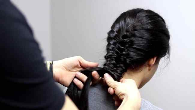 capelli lunghi con trecce treccia-10