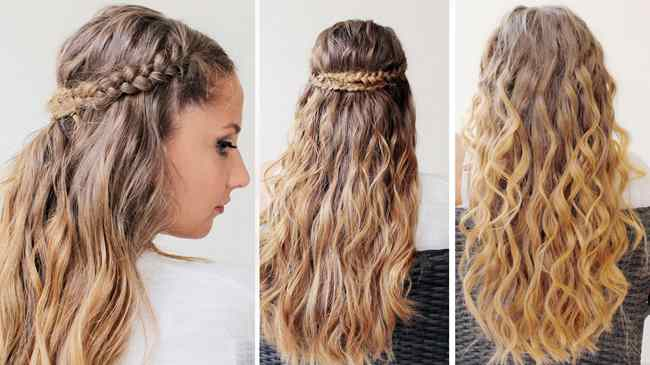 capelli lunghi con trecce treccia-3